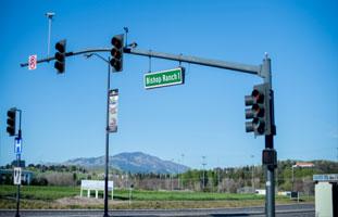 Make a left hand turn on Camino Ramon (again to the left is Camino Ramon to the right is Bishop Ranch #1) turn left on Camino Ramon.