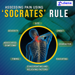 Assessing pain using 'SOCRATES' rule