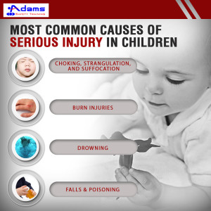 Most common causes of serious injury in children