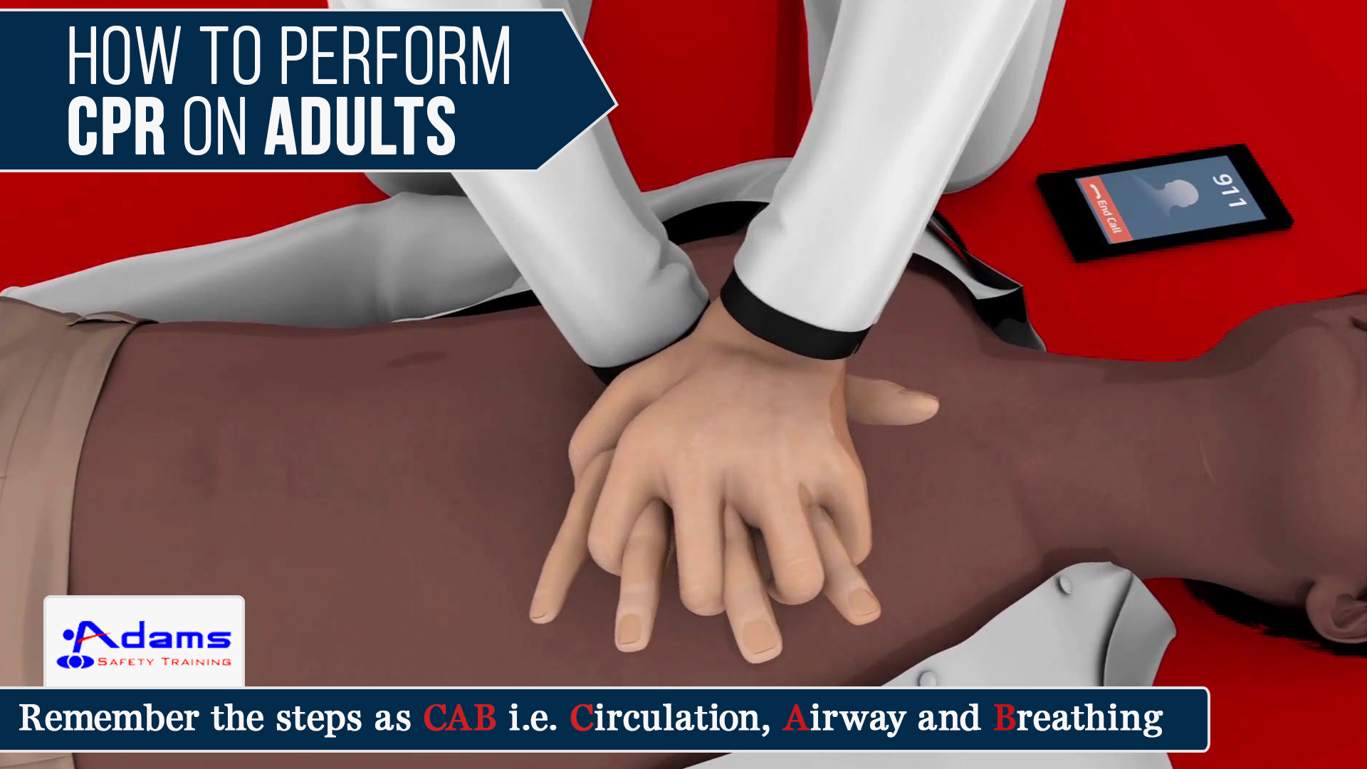 How to perform CPR on adults