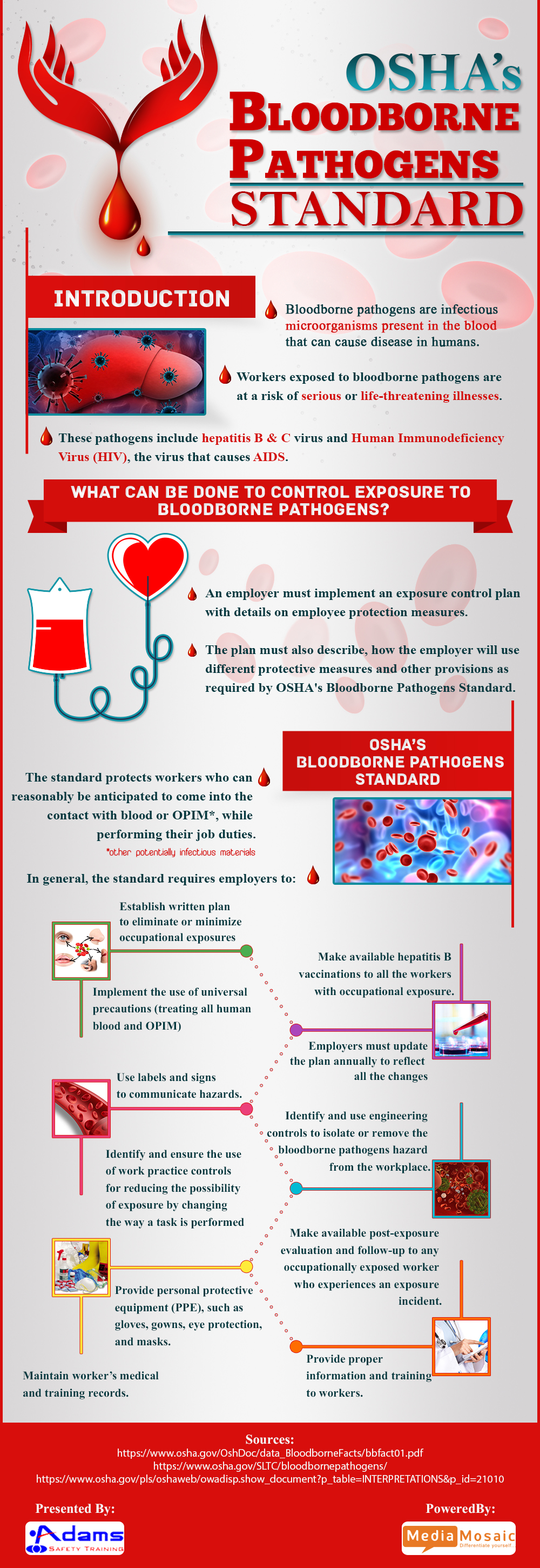 Bloodborne pathogen standards infographic adams safety bloodborne pathogen standards infographic xflitez Gallery