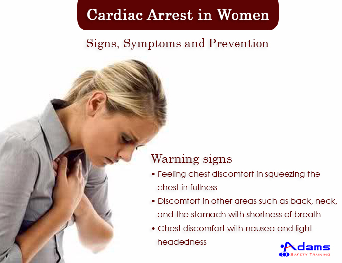 Cardiac Arrest in Women: Signs, Symptoms and Prevention