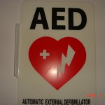 Angled AED Wall Sign #4