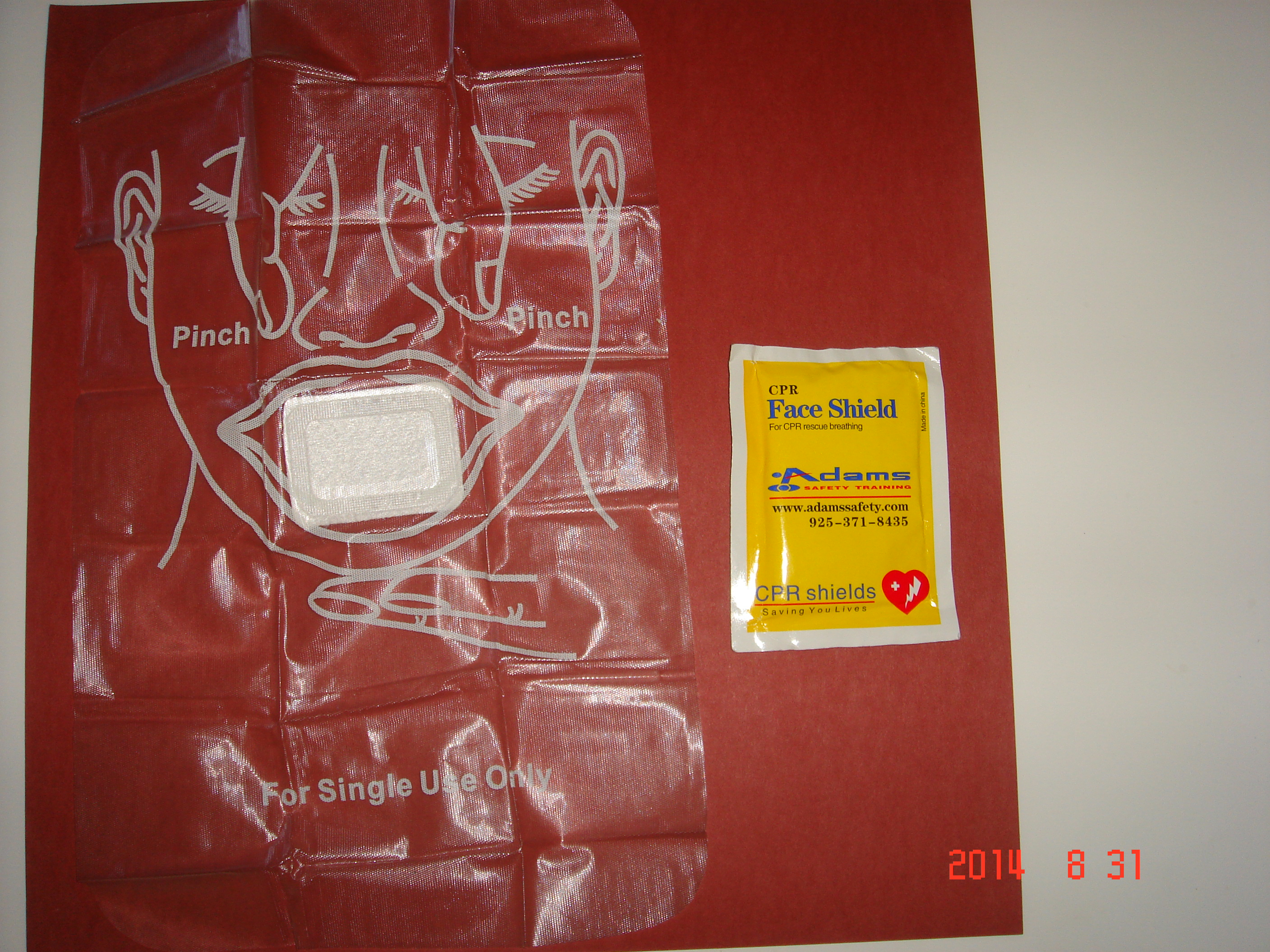 CPR Barrier in foil wallet pack