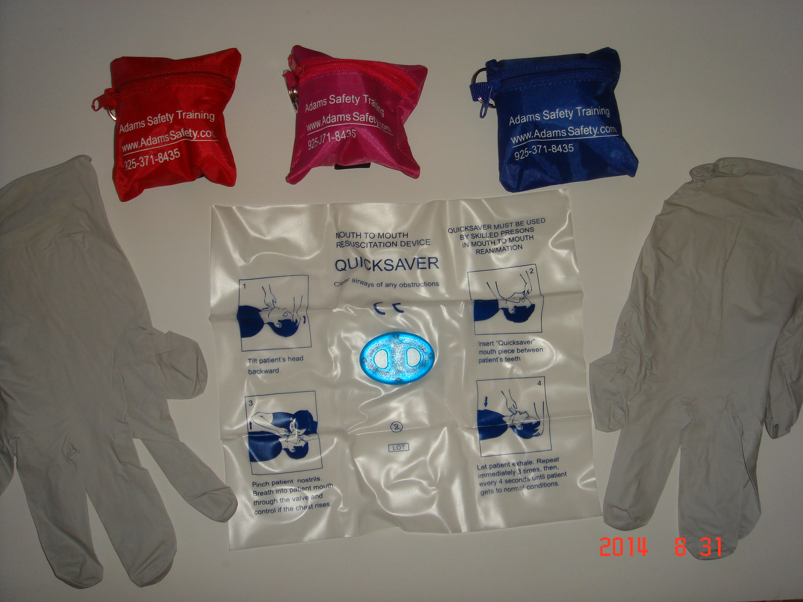 CPR Mask with Gloves
