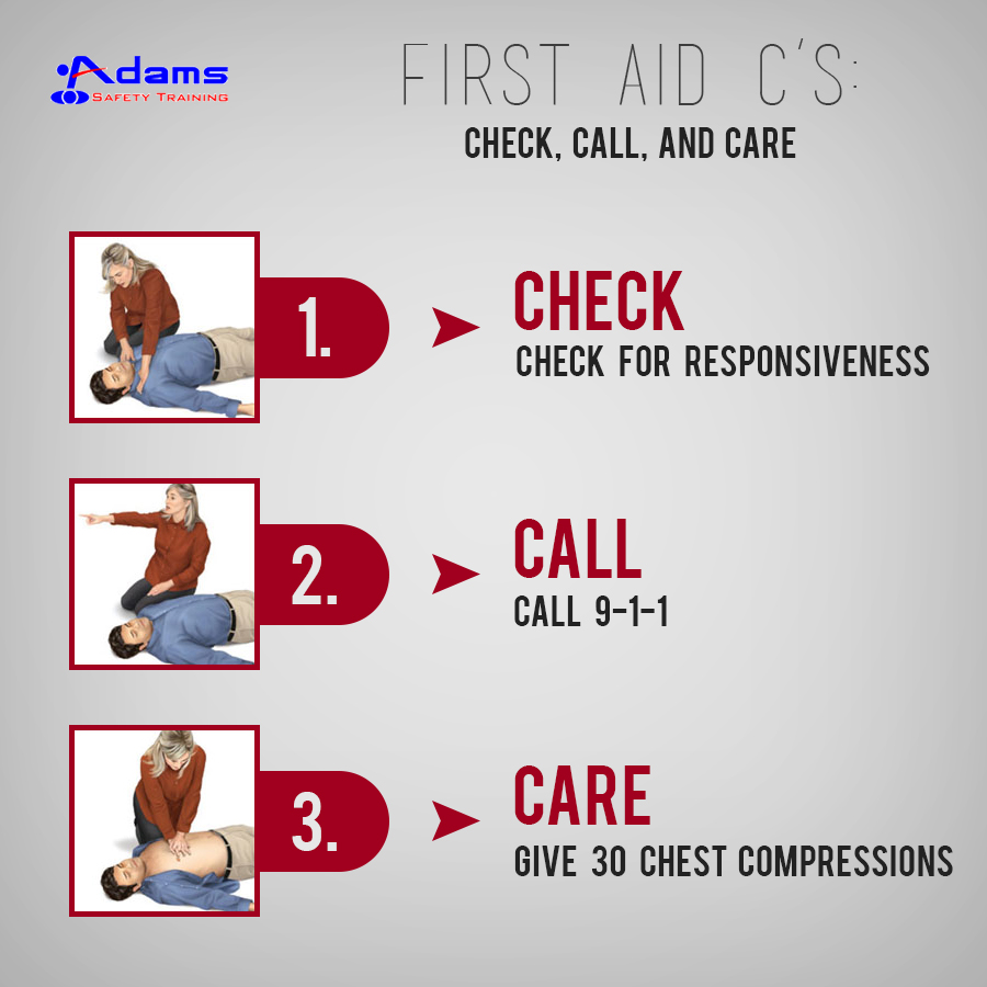 First Aid C's: Check, Call, And Care