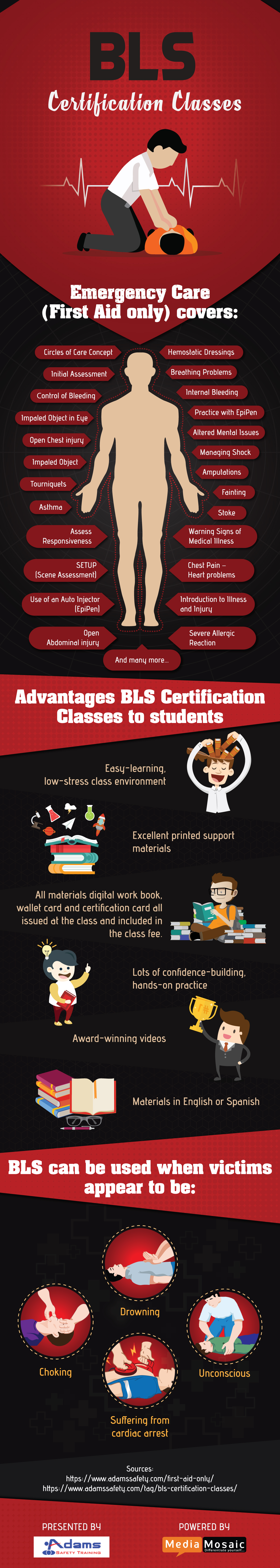 Advantages Of Bls Certification Classes Infographic Adams Safety